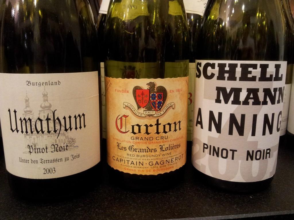 Pinot Noir: Umathum, Captain Gagnerot, Schellmann