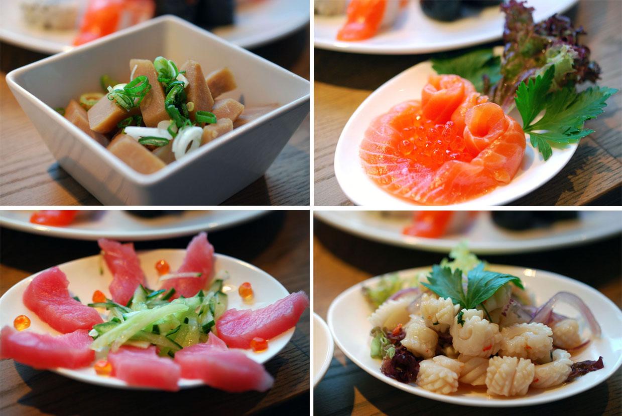 Vorspeisenvariation: Fisch und Gemüse