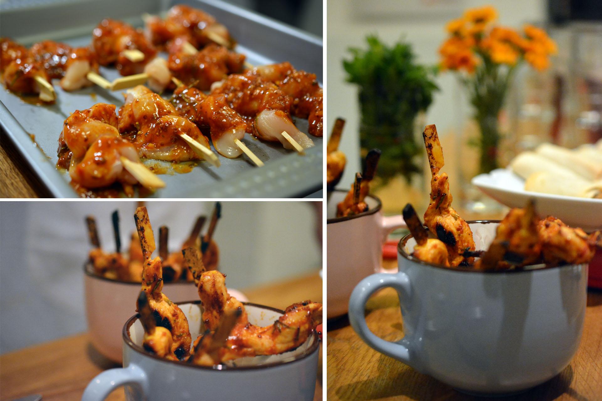 Gebratene Hühnerbruststreifen mit schneller BBQ-Sauce