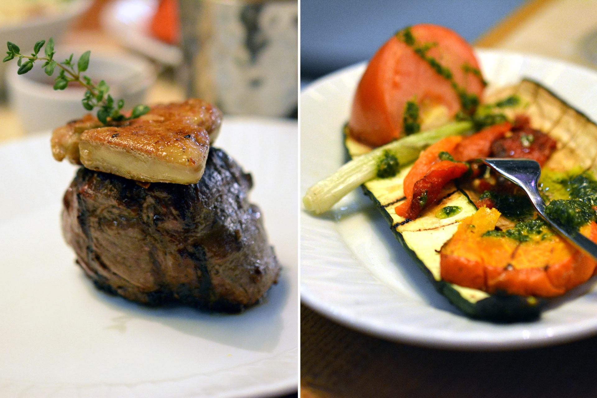 Filetsteak mit Grillgemüse