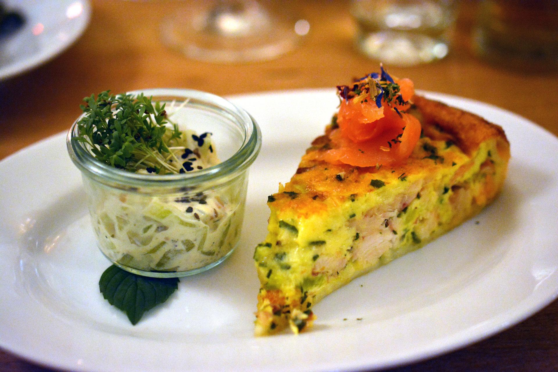 Räucherfisch-Lauch Tarte