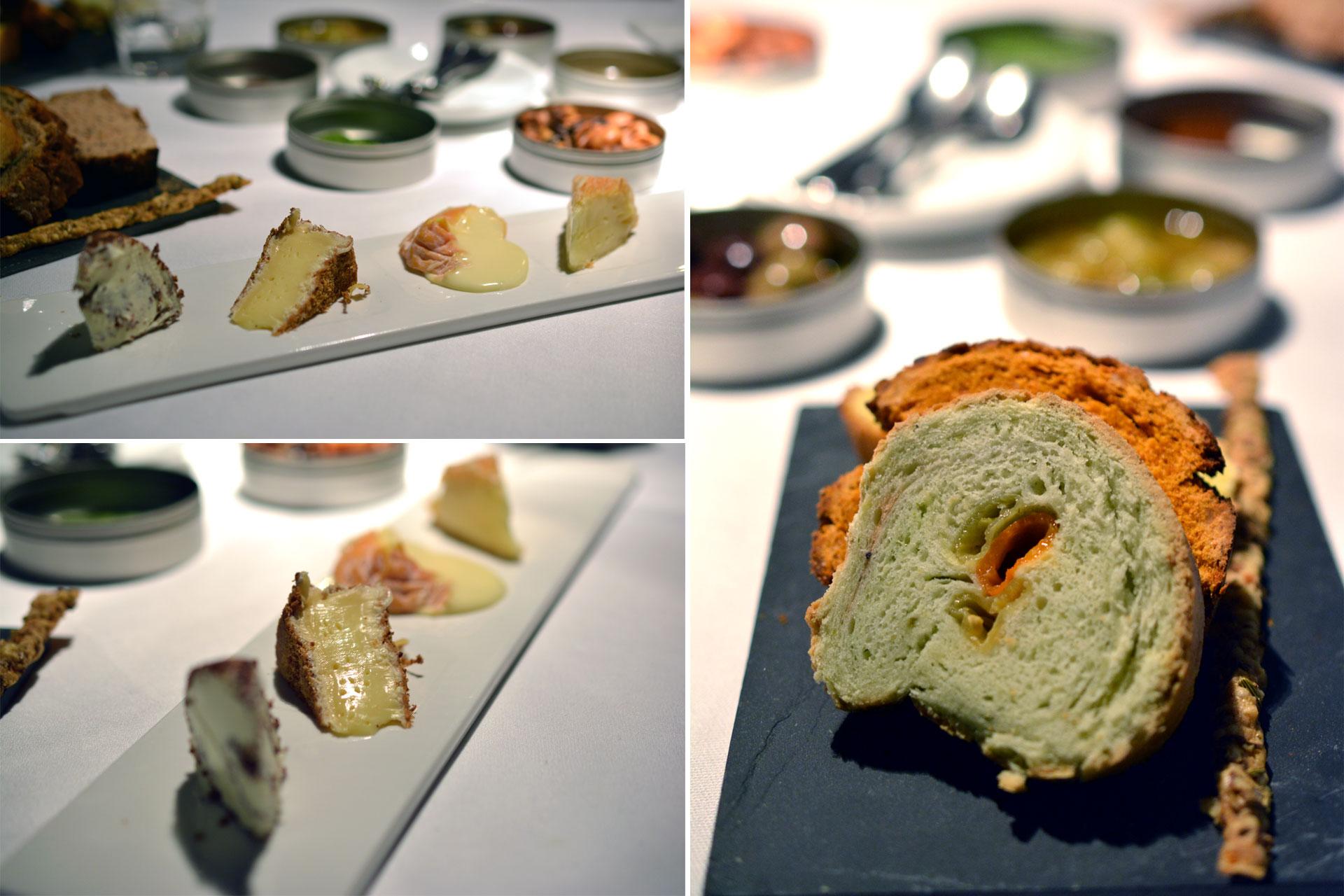 Käse vom Wagen: Trüffelhonig – Marillenchutney – Rosinensalat - Essignüsse- Oliven – Pesto