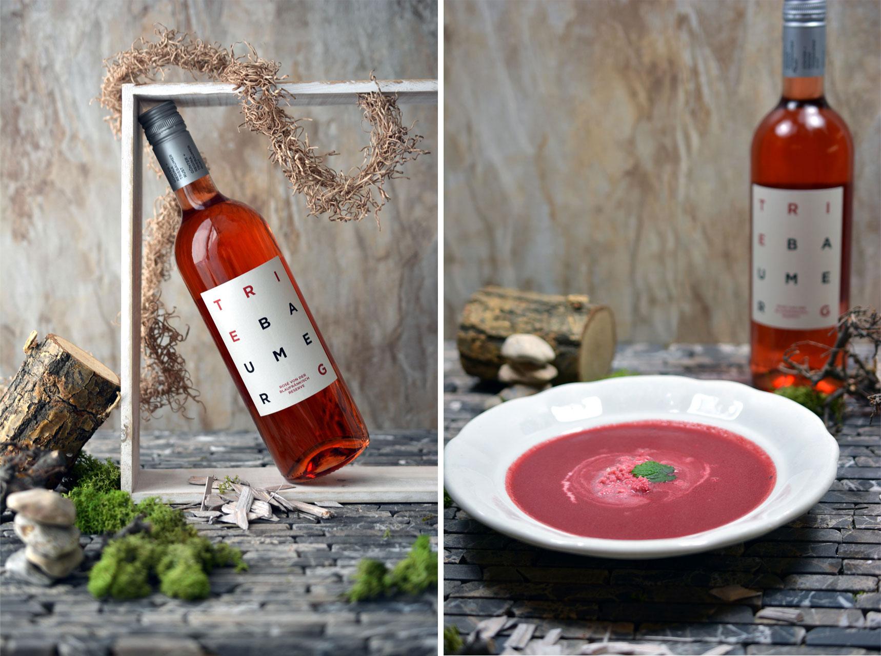 Rosé von der Blaufränkisch Reserve 2013, Rote-Rüben-Suppe