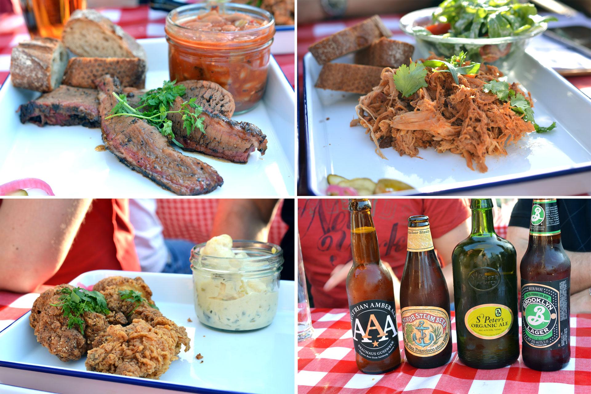 Beef Brisket, Pulled Pork, Maishendlhaxn, Craft Beer