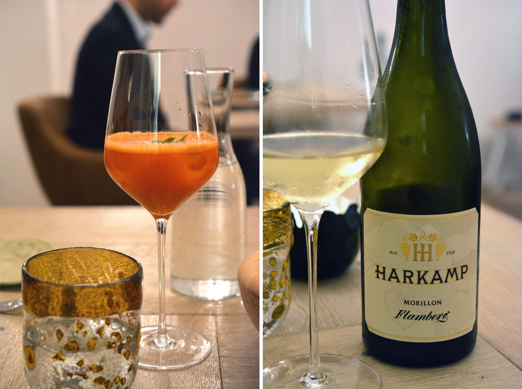 Karotten-Apfelsaft & Harkamp Morillon Flamberg