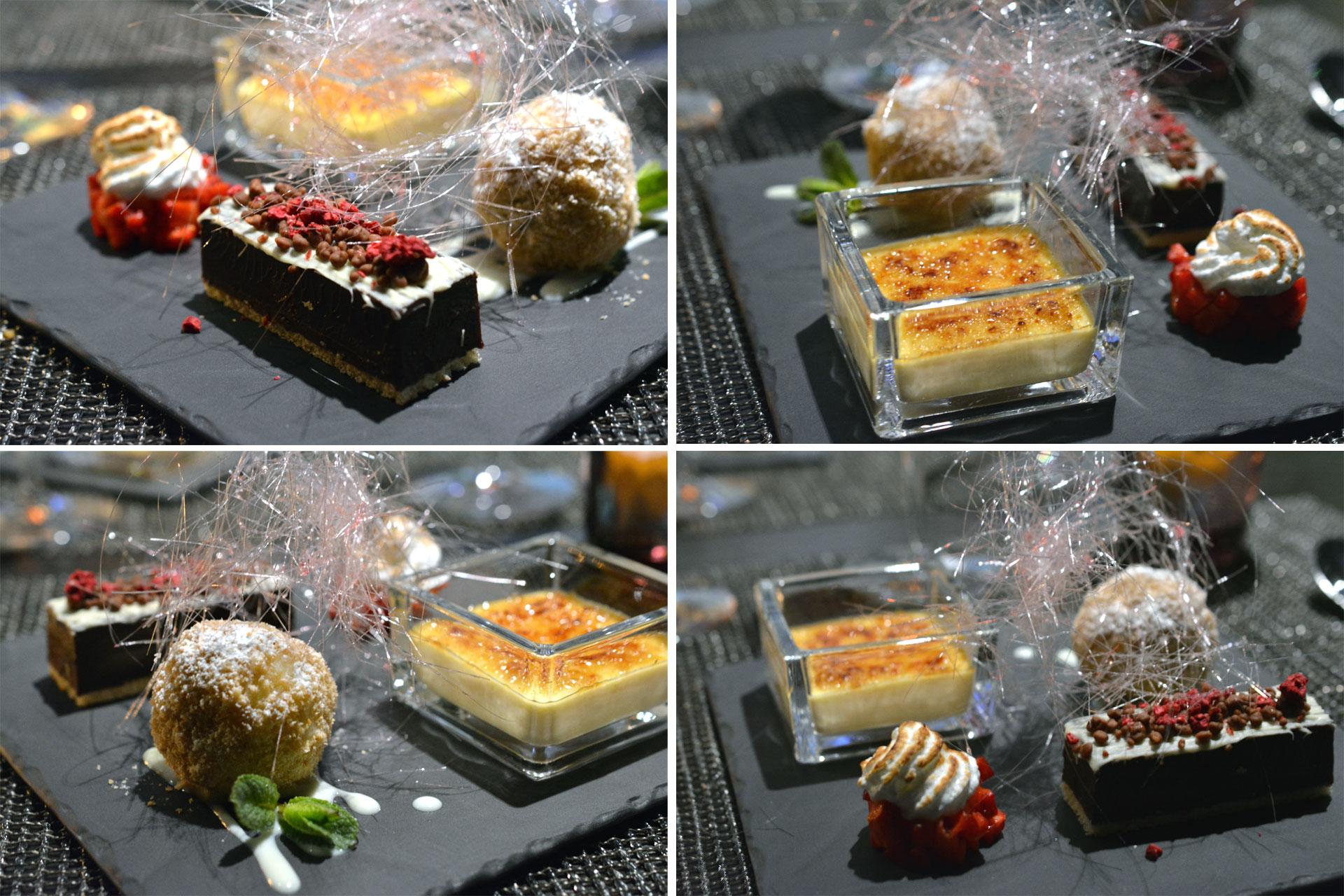 Dessertvariation: Crema Catalana | Mozartknödel | Baiser | Schokotarte