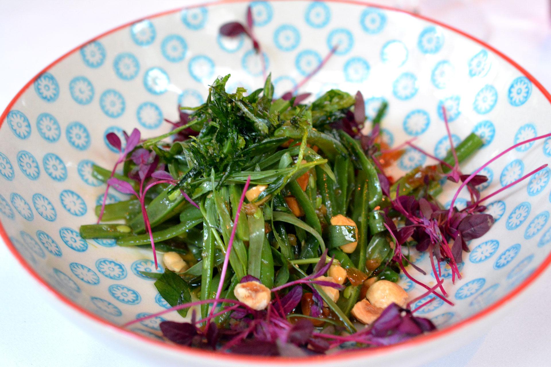 Grüne Bohnen mit Haselnüssen & Estragon mariniert